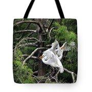 Egret Morning Tote Bag