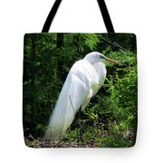 Egret On Guard Tote Bag