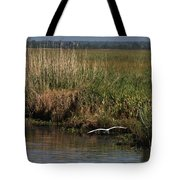 Egret On The Bayou Tote Bag