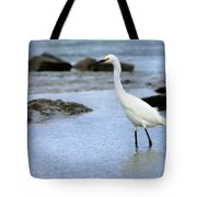 Egret Patrolling Tote Bag