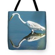 Egret Reflecting Tote Bag
