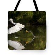 Egret Splash Tote Bag