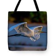 Egret Sunset Tote Bag