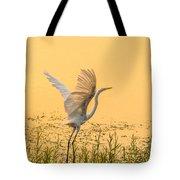 Egret Take Off 1 Tote Bag