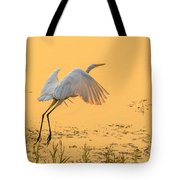 Egret Take Off 3 Tote Bag
