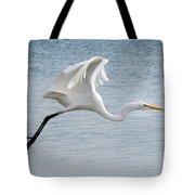 Egret Taking Off 2 Tote Bag