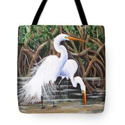 Egrets And Mangroves Tote Bag