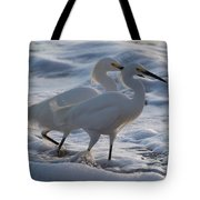 Egrets In The Shallows Tote Bag