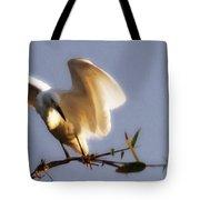 Egrets Landing Tote Bag
