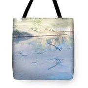 Egrets Reflection Tote Bag