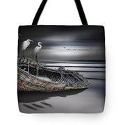 Egrets Watching Tote Bag