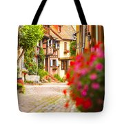 Half-timbered House, Eguisheim, Alsace, France  Tote Bag