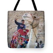 Egypt - Boy With A Camel Tote Bag