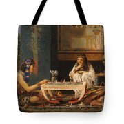 Egyptian Chess Players Tote Bag by Sir Lawrence Alma-Tadema