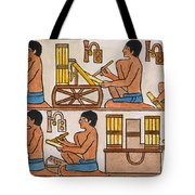Egyptian Scribes Tote Bag