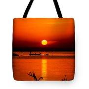 Egyptian Sunrise On Lake Nasser Tote Bag