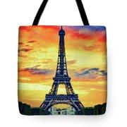 Eifel Tower In Paris Tote Bag