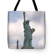 Eiffel And Liberty Tote Bag