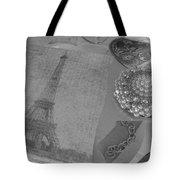 Eiffel Shades Of Grey Tote Bag