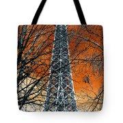 Eiffel Tower Behind The Trees Pop Art Tote Bag