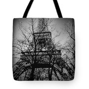 Eiffel Tower During The Winter. Tote Bag