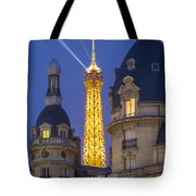 Eiffel Tower From Passy Tote Bag by Brian Jannsen