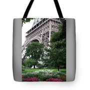 Eiffel Tower Garden Tote Bag