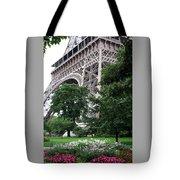 Eiffel Tower Garden Tote Bag