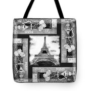 Eiffel Tower In Black And White Design I Tote Bag