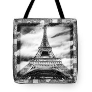 Eiffel Tower In Black And White Design II Tote Bag
