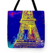 Eiffel Tower In Blue Tote Bag