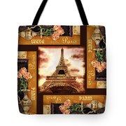 Eiffel Tower Roses Dance Tote Bag