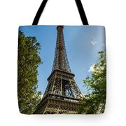 Eiffel Tower Through Trees Tote Bag