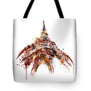 Eiffel Tower Watercolor Tote Bag