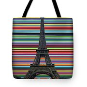Eiffel Tower With Lines Tote Bag