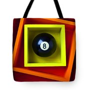 Eight Ball In Box Tote Bag by Garry Gay