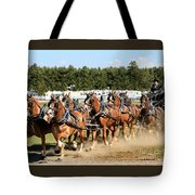 Belgian Eight Horse Hitch  Tote Bag