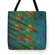 Eight Of Wands Illustrated Tote Bag