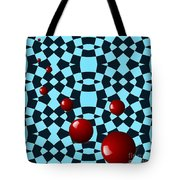 Eight Red Balls Tote Bag