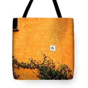 Eighteen On Orange Wall Tote Bag