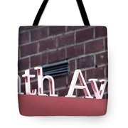 Eighth Avenue Sign New York Tote Bag