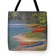 Eighth Lake Canoes Tote Bag