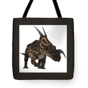 Einiosaurus On White Tote Bag