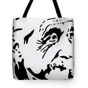 Einstein Waiting In Line Tote Bag