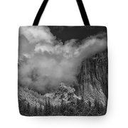 El Capitan And The Stormy Clouds Tote Bag