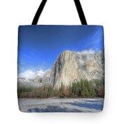 El Capitan Meadow Winter Yosemite National Park II Tote Bag