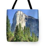 El Capitan Over The Merced River - Yosemite Valley Tote Bag