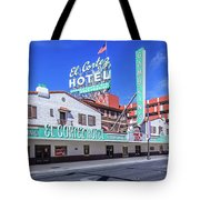 El Cortez Hotel On Fremont Street 2.5 To 1 Ratio Tote Bag