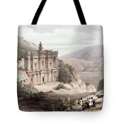 El Deir Petra 1839 Tote Bag