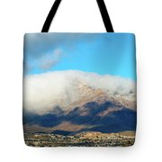 El Paso Franklin Mountains And Low Clouds Tote Bag